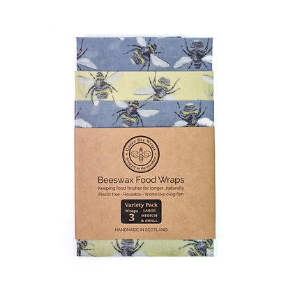 Bees Beeswax Wrap Pack