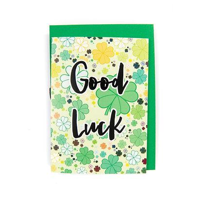 Good Luck Card An Independent Zebra