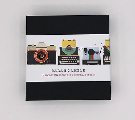 Cameras and Typewriters, Box of 10 Cards