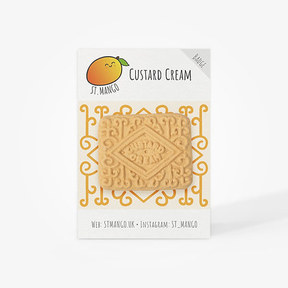 Custard Cream Badge