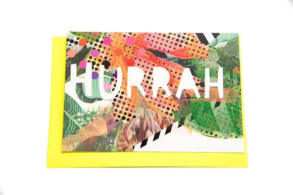 Hurrah Card An Independent Zebra