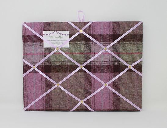Purple Tweed Pin Board