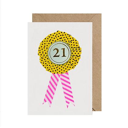 Age 21 Birthday Card