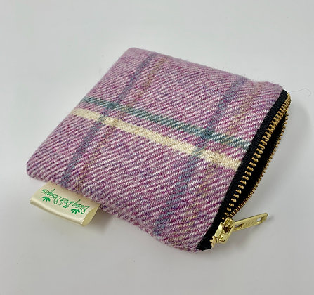 Lilac Tweed Coin Purse