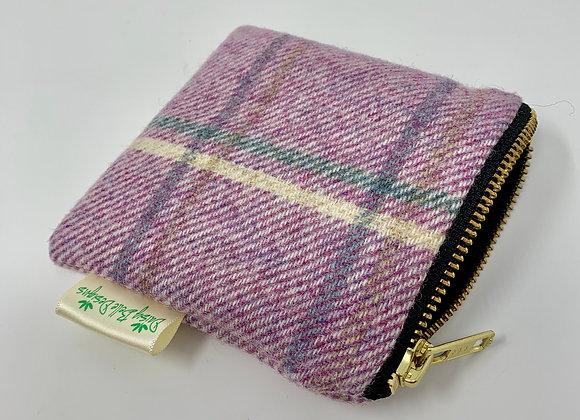 Lilac Tweed Coin Purse