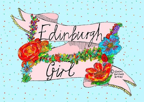 Edinburgh Girl A4 Print