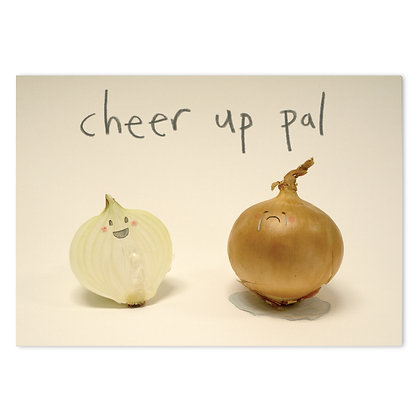 Cheer up pal card by The Grey Earl