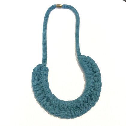 Blue Cotton Cord Necklace