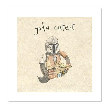 Yoda Cutest Print The Grey Earl
