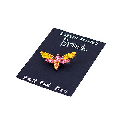 Yellow Moth Brooch