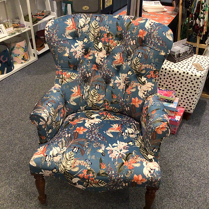 Blue Foliage Chair
