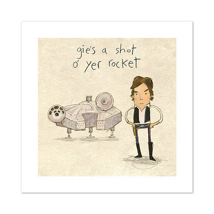 Gie's A Shot Print