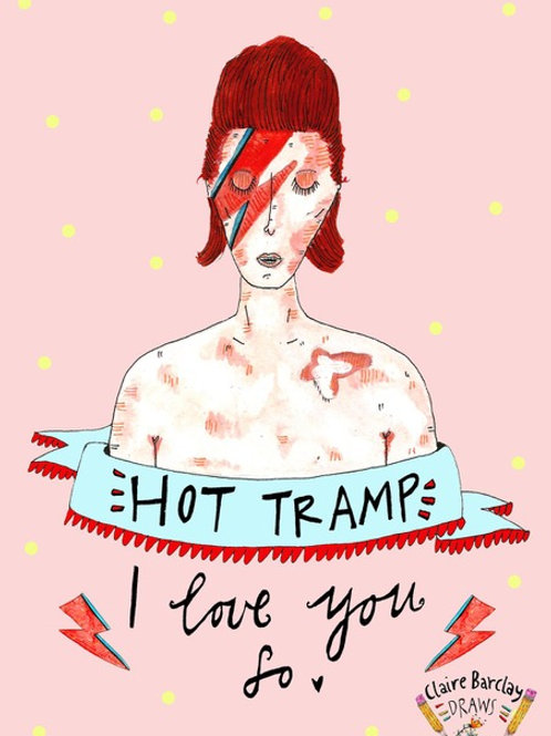 BOWIE 'Hot Tramp I Love You So' Illustration A4 Print