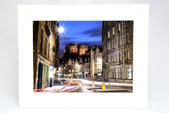 Edinburgh Castle Mounted Print