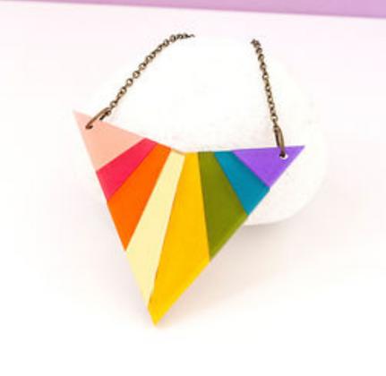 Rainbow Arrowhead Necklace