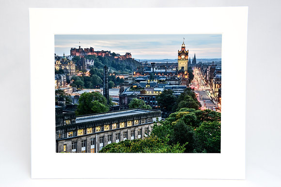 Edinburgh Skyline mounted Print Ryan McEwan Photography