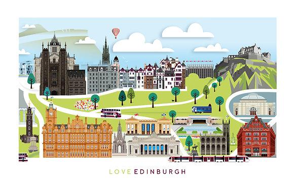 Love Edinburgh Print