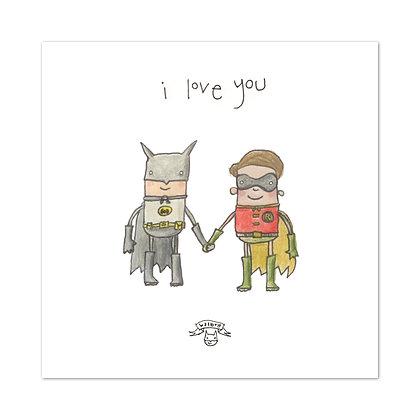 The Grey Earl Batboy print