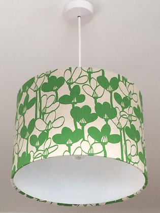 Green Floral Lampshade
