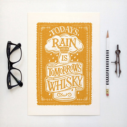 Today's Rain is Tomorrows Whisky Card