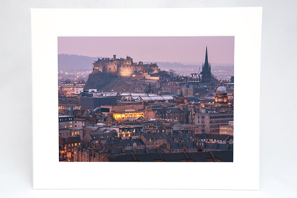 Edinburgh Castle Mounted Print