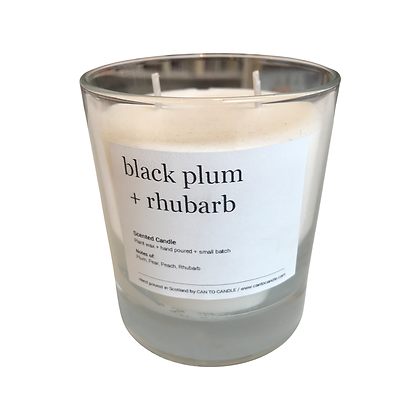 Black Plum and Rhubarb Scented Candle
