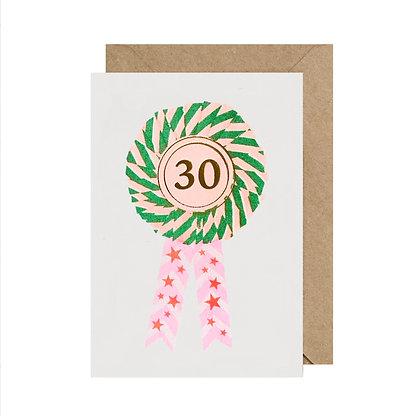 Age 30 Birthday Card