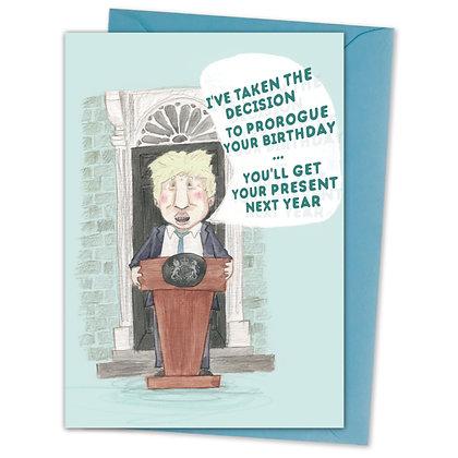 BOJO birthday Card by The Grey Earl