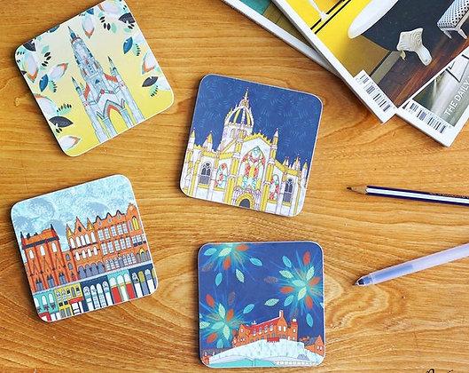 Edinburgh Scenes Coasters - 4 Pack