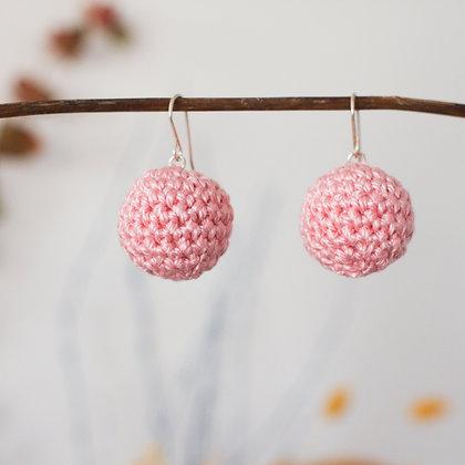 Crochet Earrings Pink