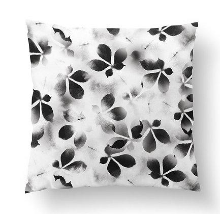 Black & White Floral Cushion