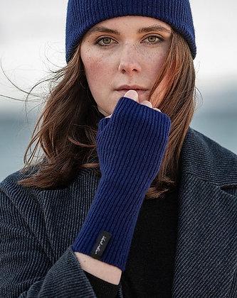 Royal Blue Woollen Wrist Warmers