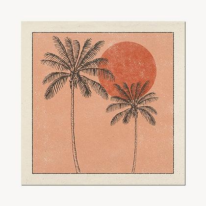 Golden Palms Print