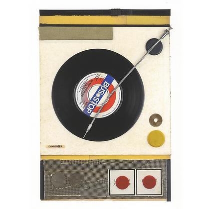 Retro Record Player Print