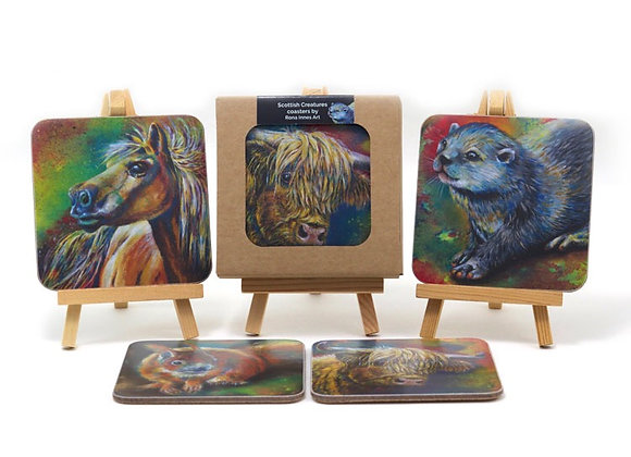 Animal Coasters Mixed