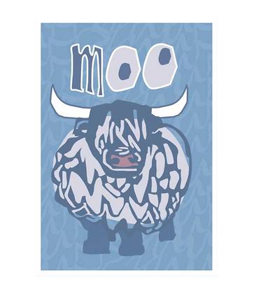 Moo Postcard