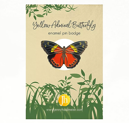 Butterfly Enamel Pin Badge