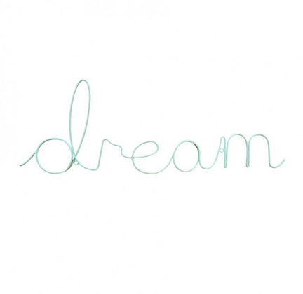 Dream Word Art, Aqua