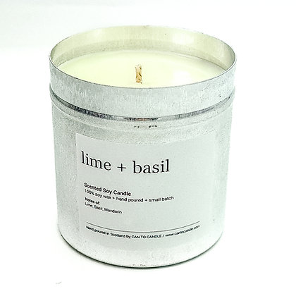 Lime, Basil and Mandarin Scented Candle