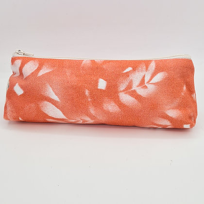 Coral Leaf Pencil Case