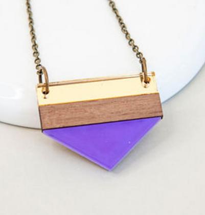 Purple Point Necklace