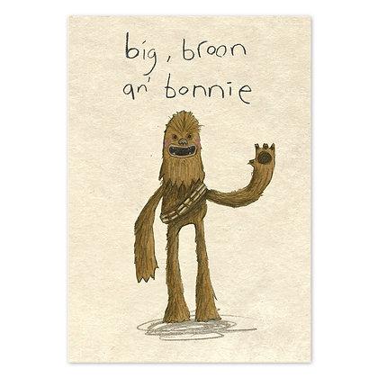 The Grey Earl big broon and bonnie card