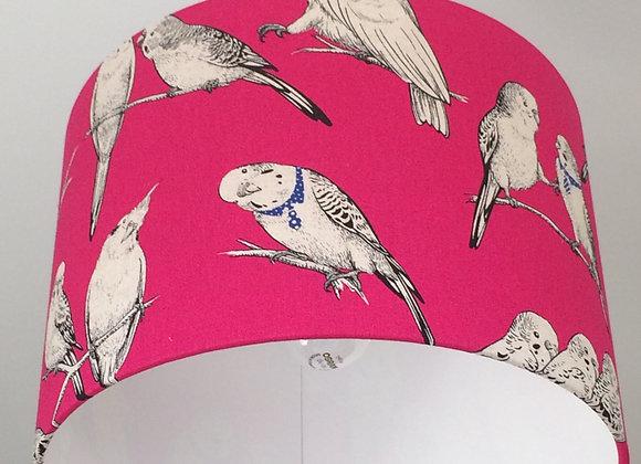 Budgies Pink Lampshade