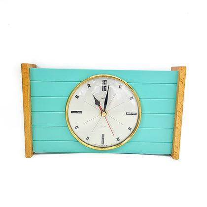 Upcycled Turquoise  Clock