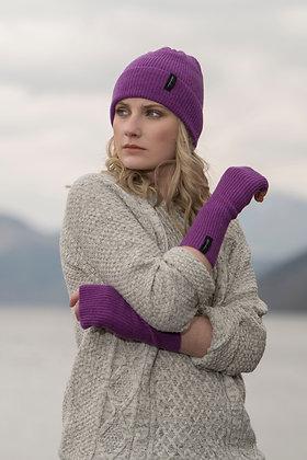 Purple wristwarmers byIsland Nation