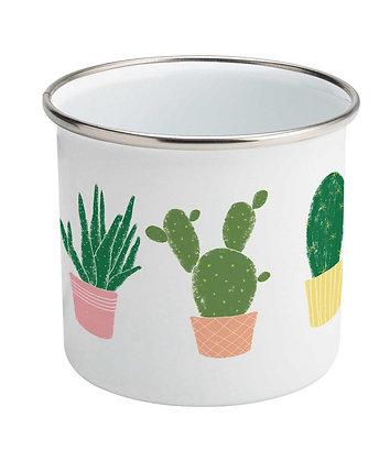 Succulents Enamel Mug