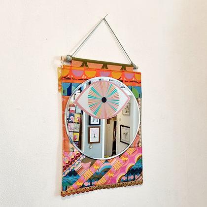 Textile Hanging Mirror