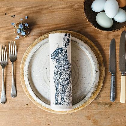 Blue Hare Napkin