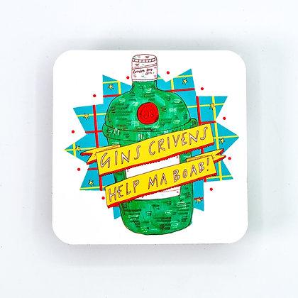 Gins Crivens Coaster