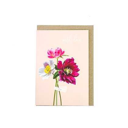 With love greetings card An Independent Zebra